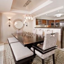Contemporary Dining Room by Design Magnifique, Inc.