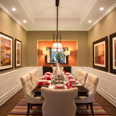 Contemporary Dining Room by Mary DeWalt Design Group