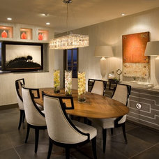 Contemporary Dining Room by Megan Crane Designs, Inc.