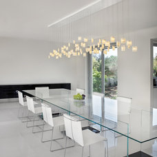 Contemporary Dining Room by Galilee Lighting
