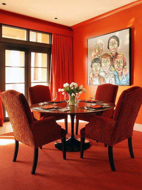 Orange dining chair home design ideas pictures remodel for Dining room ideas orange