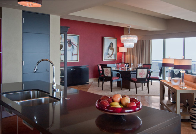 Contemporary Dining Room by Peg Berens Interior Design LLC