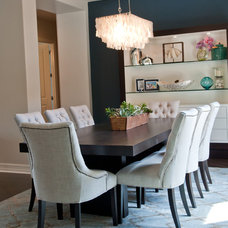 Contemporary Dining Room by Red Egg Design Group
