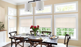 Contemporary Dining Room Roller Shades | 3% Solar in White/Linen