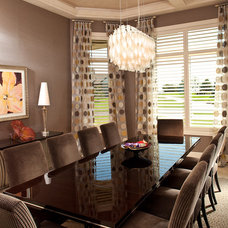 Contemporary Dining Room by Sarah O Design