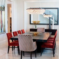 Contemporary Dining Room by Sklar Furnishings