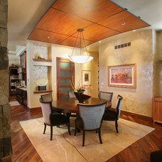 Contemporary Dining Room by Speas Interior Design