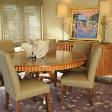Contemporary Dining Room by Susan Brunstrum of SWEET PEAS DESIGN INC