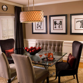 contemporary dining room by Decorating Den Interiors - Susan Sutherlin
