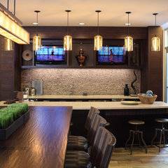 contemporary dining room by The Bozzuto Group