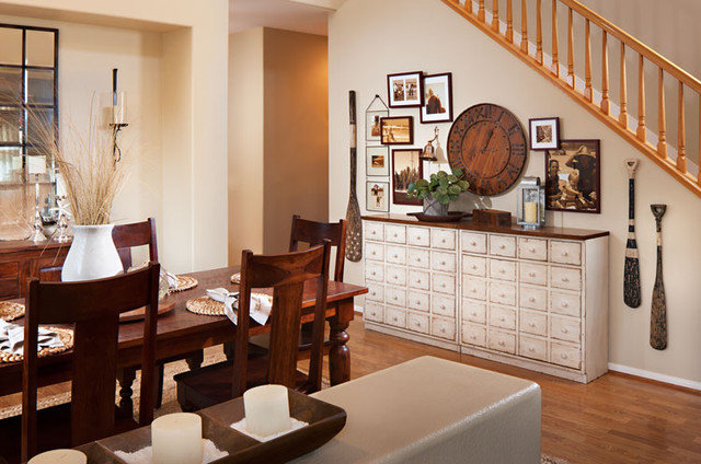 Contemporary Dining Room by Style On a Shoestring