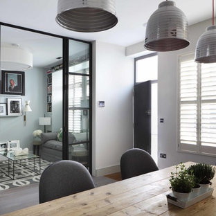 Inspiration for a contemporary dining room in London.