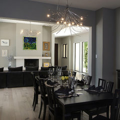 contemporary dining room by Visbeen Associates, Inc.