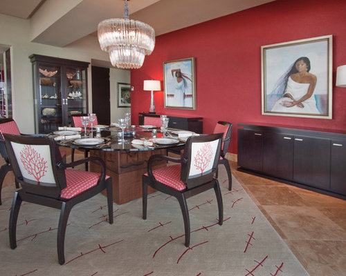 Rose colored walls houzz for H o rose dining room