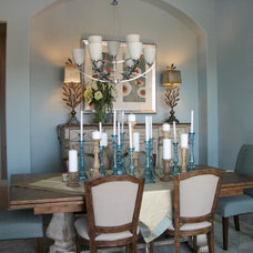 Contemporary Dining Room by Finishing Touches Interior Design