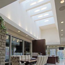 Contemporary Dining Room by Moline James E Builders Inc