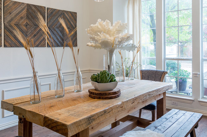Rustic Dining Room by Urbanology Designs