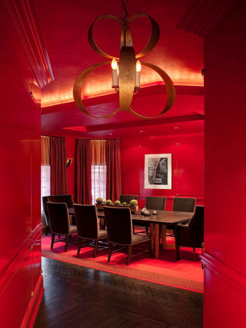 Red dining room home design ideas pictures remodel and decor for Red dining room designs