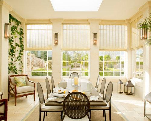 Tropical Enclosed Dining Room Design Ideas Remodels Photos