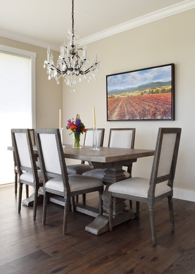Transitional Dining Room by Design Fixation [Faith Provencher]