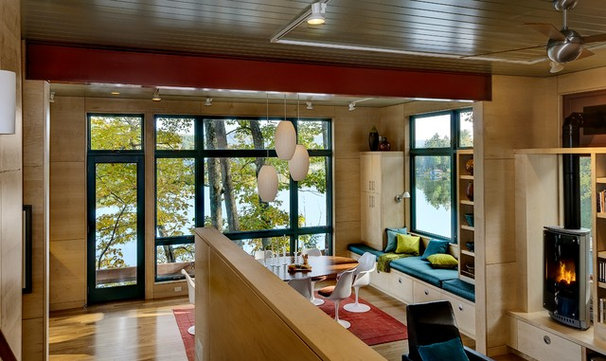 Contemporary Dining Room by Smith & Vansant Architects PC