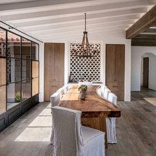 Mediterranean Dining Room by Becker Studios