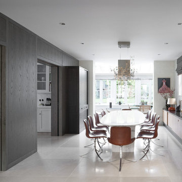 Contemporary Kitchen and Dining Room, St Johns Wood