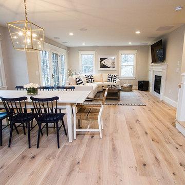 Contemporary Kitchen featuring Sawyer Mason Oak Bluffs Engineered Flooring