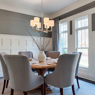 Example of a trendy dining room design in Charlotte