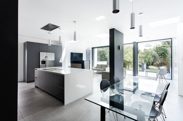 Contemporary Dining Room by SieMatic by The Myers Touch