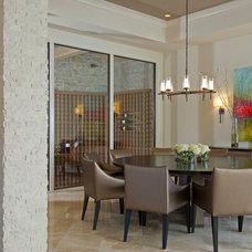 Contemporary Dining Room by Charles Clayton Construction Inc