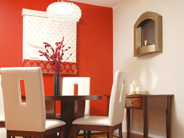 Color Feast When To Use Orange In The Dining Room - Orange dining room chairs