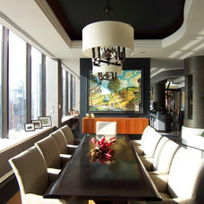Contemporary Dining Room by Lisa Wolfe Design, Ltd