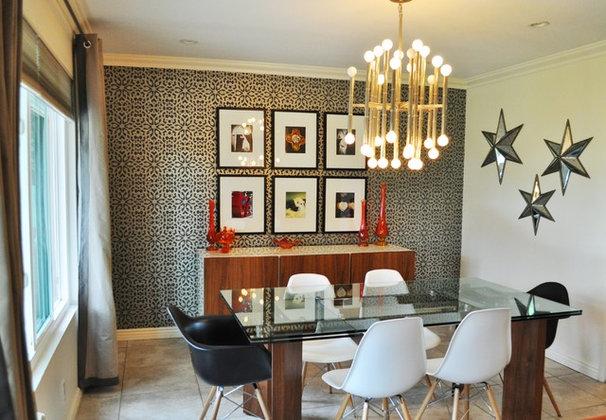Contemporary Dining Room by Cait Sourapas Interior Design