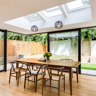 This Is An Example Of A Contemporary Dining Room In London
