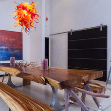 Contemporary Dining Room by Victoria Martoccia Custom Construction, Inc