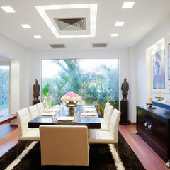 contemporary dining room by Hussein Rady Design