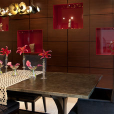 Contemporary Dining Room by Toro-Lombardo Design Build