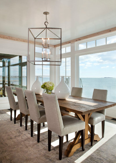 Good Beach Style Dining Room by Michael Greenberg u Associates