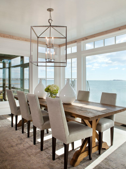 Beach style dining room design ideas remodels photos for Dining room inspiration