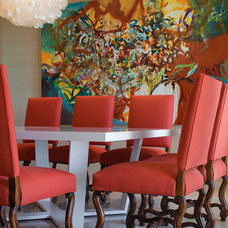 Transitional Dining Room by Kenneth Brown Design