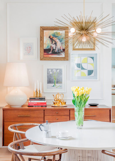 Transitional Dining Room by Sam Balukonis | Photographer