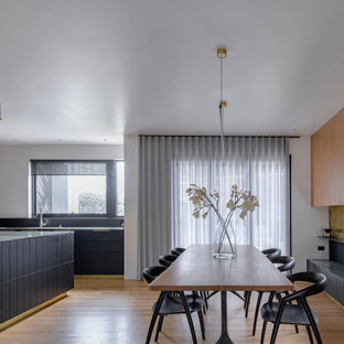 Photo of a modern dining room in Sydney.