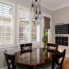 Transitional Dining Room by Kerrie L. Kelly