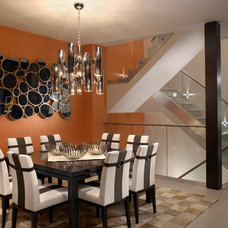 Contemporary Dining Room by Fede Design, LLC