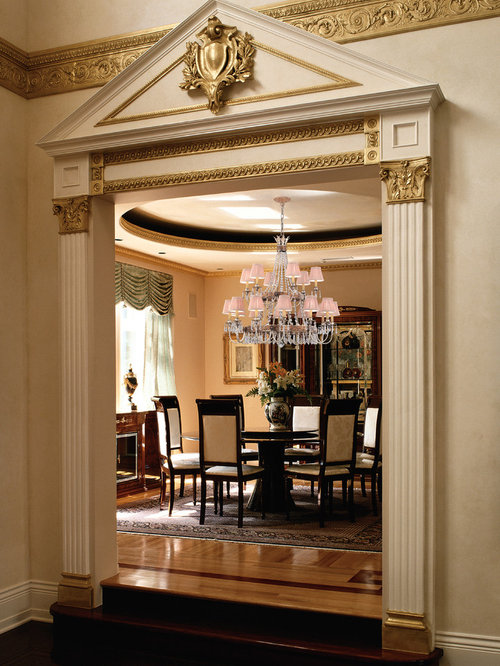 elegant dining rooms. Traditional medium tone wood floor dining room idea in Miami with beige  walls Elegant Dining Rooms Houzz