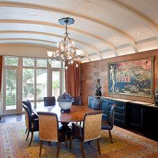 Contemporary Dining Room Cord Shiflet Lake Austin Estate
