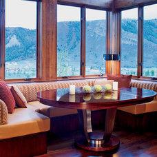 Rustic Dining Room by Carol Moore Interior Design, Inc.