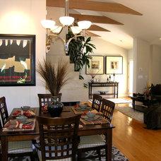 Contemporary Dining Room by Kittrell & Associates Interior Design