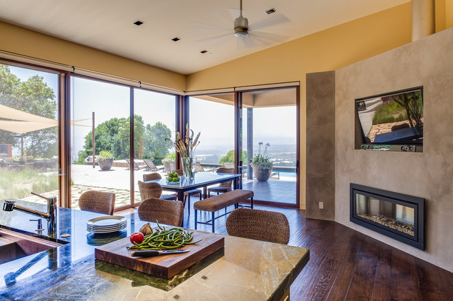 Contemporary Dining Room by Louie Leu Architect, Inc.